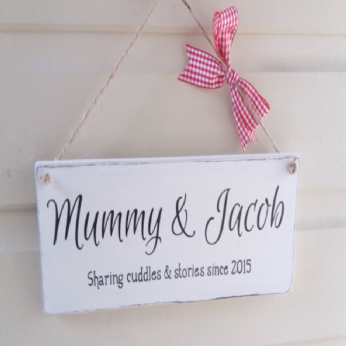 A Personalised Wooden Plaque - Cuddles & Stories